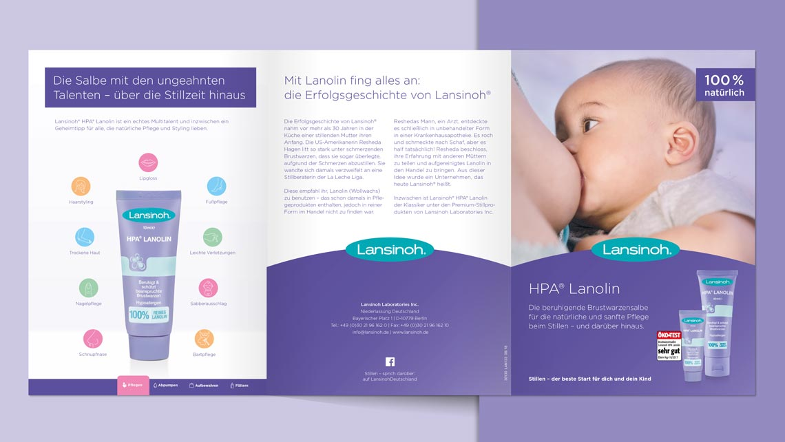 Lansinoh Flyer Design